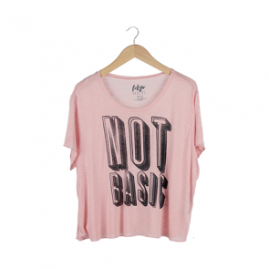 Pink Tokyo Darling Sheer Not Basic Boy Graphic T-Shirt