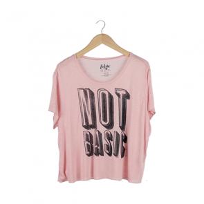 Pink Tokyo Darling Sheer Not Basic Boy Graphic T-Shirt