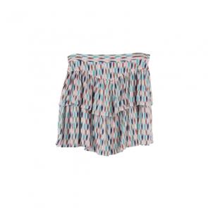 Multi-Color Printed Mini Skirt