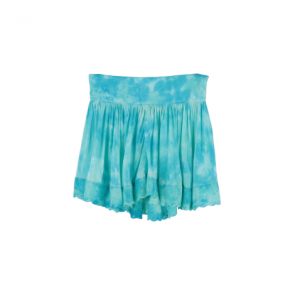 Blue Cloud Flared Mini Skirt