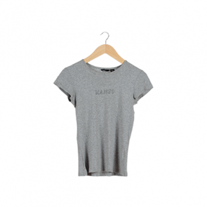 Grey Plain Crew Neck T-Shirt