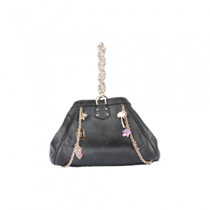 Versace For H & M Black Leather Hand Bag