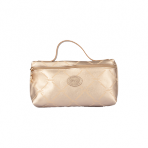 Longchamp Gold Metallic Mini Zip Make-up Case