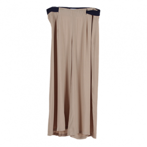 Brown Plain Cropped Pants