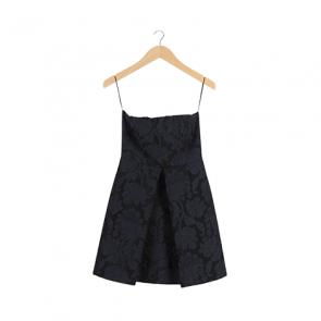 Black and Blue Pattern Mini Dress