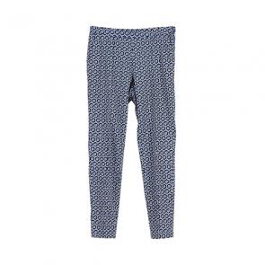Blue Pattern Skinny Pants