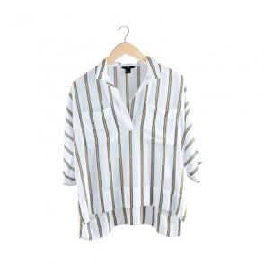 White Striped Short Sleeve Shirt