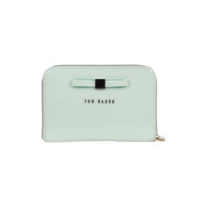 Ted Baker Mint Slim Bow Clutch
