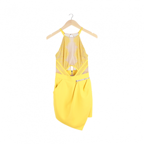 Yellow Halter Neck Jumpsuit
