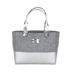 Kate Spade Grey Metallic Hand Bag