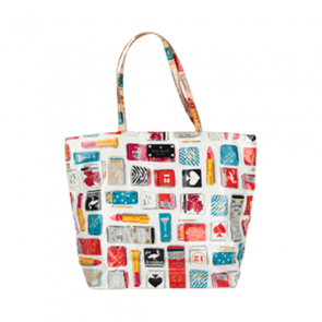 Kate Spade White Graphic Tote Bag