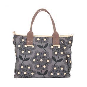 Orla Kiely Grey Floral Tote Bag