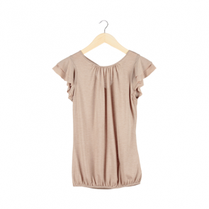 Brown Cape Sleeve T-Shirt