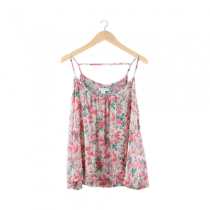 Multi Floral Sleeveless Blouse