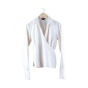 Cream Wrap Shirt