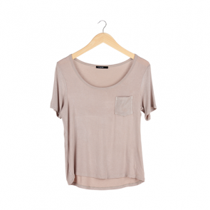 Brown Pocket T-Shirt