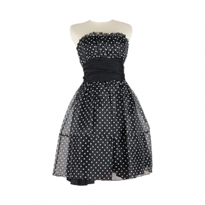 Black Polkadot Mini Dress
