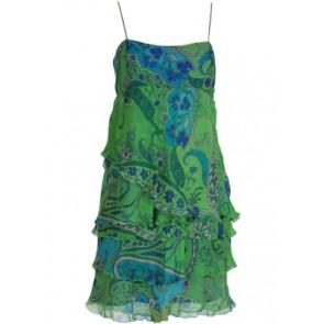 Green Ruffle Mini Dress