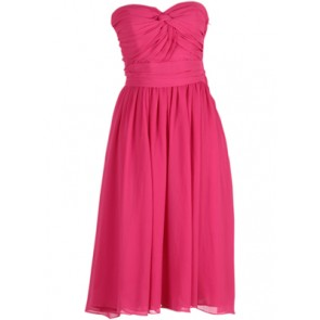 Pink Tube Midi Dress