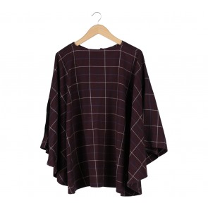 Meisje by Tantri Purple Plaid Cape Outerwear