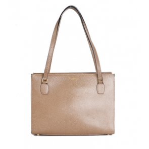 Kate Spade Brown Camel Shopper Leather Shoulder Bag