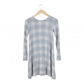 Old Navy Grey Plaid Mini Dress