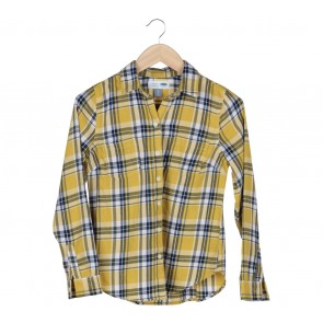 Old Navy Yellow Tartan Shirt