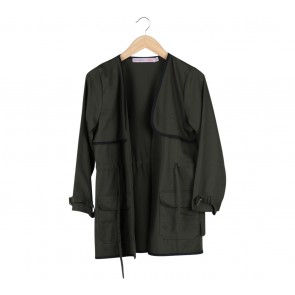 Cotton Ink Dark Green And Black Outerwear