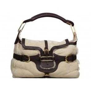 Jimmy Choo Brown Shearling Tulita Shoulder Bag