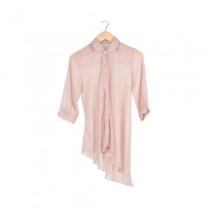 Dust Pink Long Sleeve Blouse