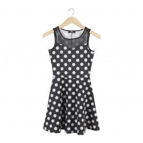 Max Black And Off White Polka Dot Mini Dress