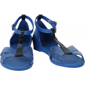 Melissa Blue And Black T-Bar Sandals