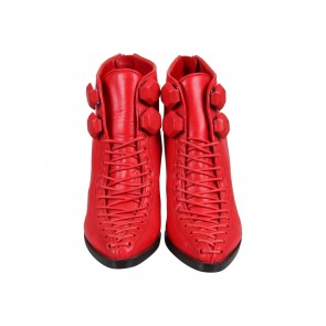 Givenchy Red 120mm Platform Leather Ankle Boots