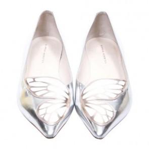 Sophia Webster Silver Bibi Butterfly Flats
