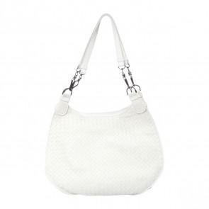 Bottega Veneta Off White Shoulder Bag