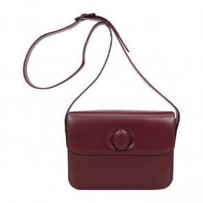 Cartier Maroon Leather Sling Bag
