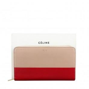 Celine Bicolor Continental Zip Wallet