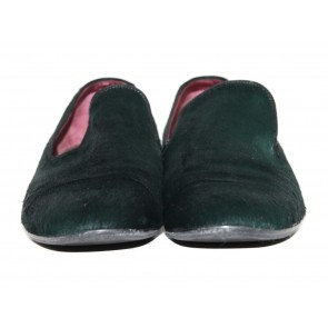 Celine Green Pony Hair Loafers