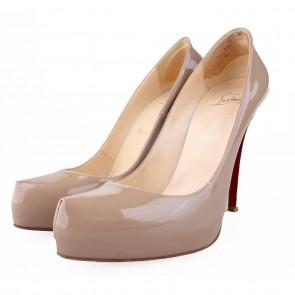 Christian Louboutin Rolando Nude Patent Heels