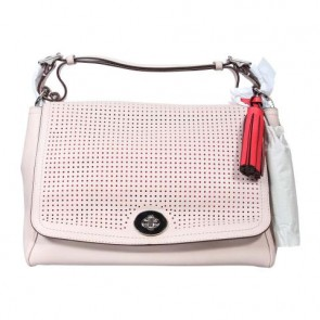 Coach Pink Legacy Perforated Romy Top Handle Sling Bag