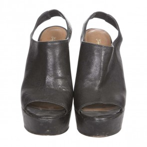 Elizabeth and James Black Wedges