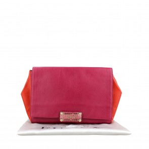 Furla Pink Snake Leather Clutch