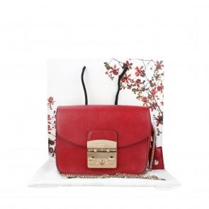 Furla Red Mini Metropolis Cabernet Shoulder Bag