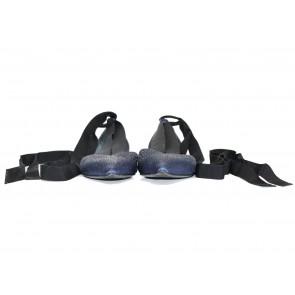Giorgio Armani Dark Blue Satin Flats