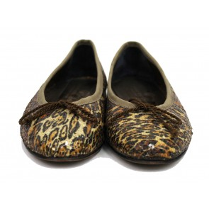Jaime Mascaro Brown Leopard Sequins Flats