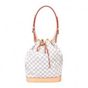 Louis Vuitton White Damier Azur Noe Shoulder Bag