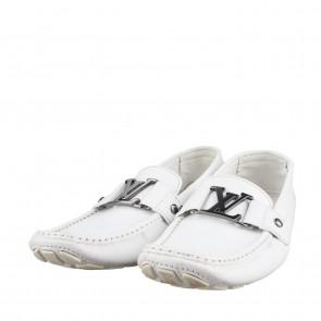 Louis Vuitton White Flats