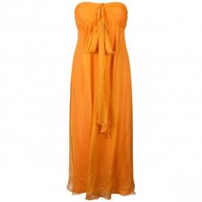 Milly Orange Midi Dress