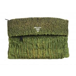 Prada Green Clutch