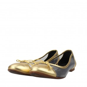 Saint Laurent Gold Flats